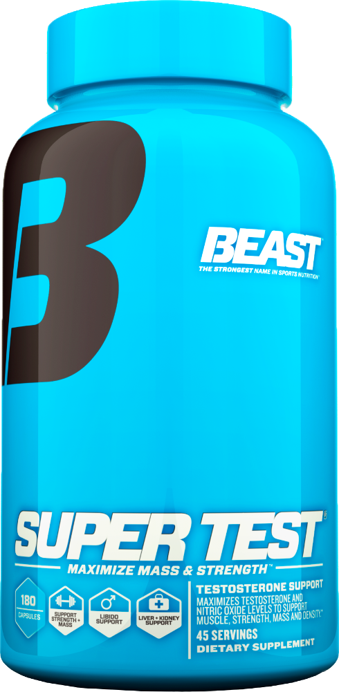 Beast Sports Nutrition Super Test - 180 Rapid Release Capsules