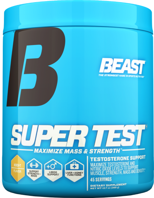 Beast Sports Nutrition Super Test Powder - 45 Servings Iced T