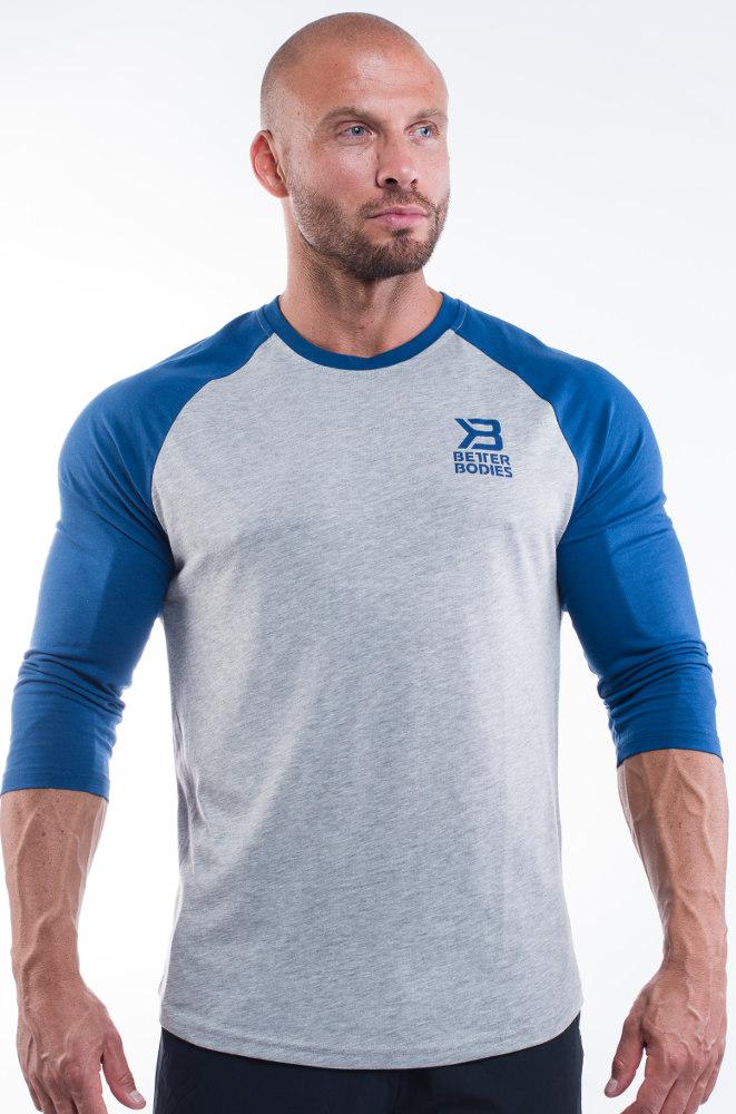 Better Bodies Mens Baseball Tee - Navy XL