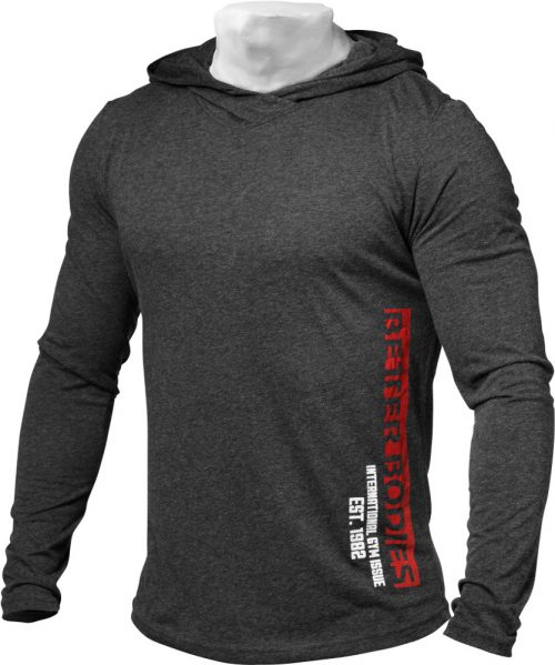 Better Bodies Mens Soft Hoodie - Anthracite Melange Small