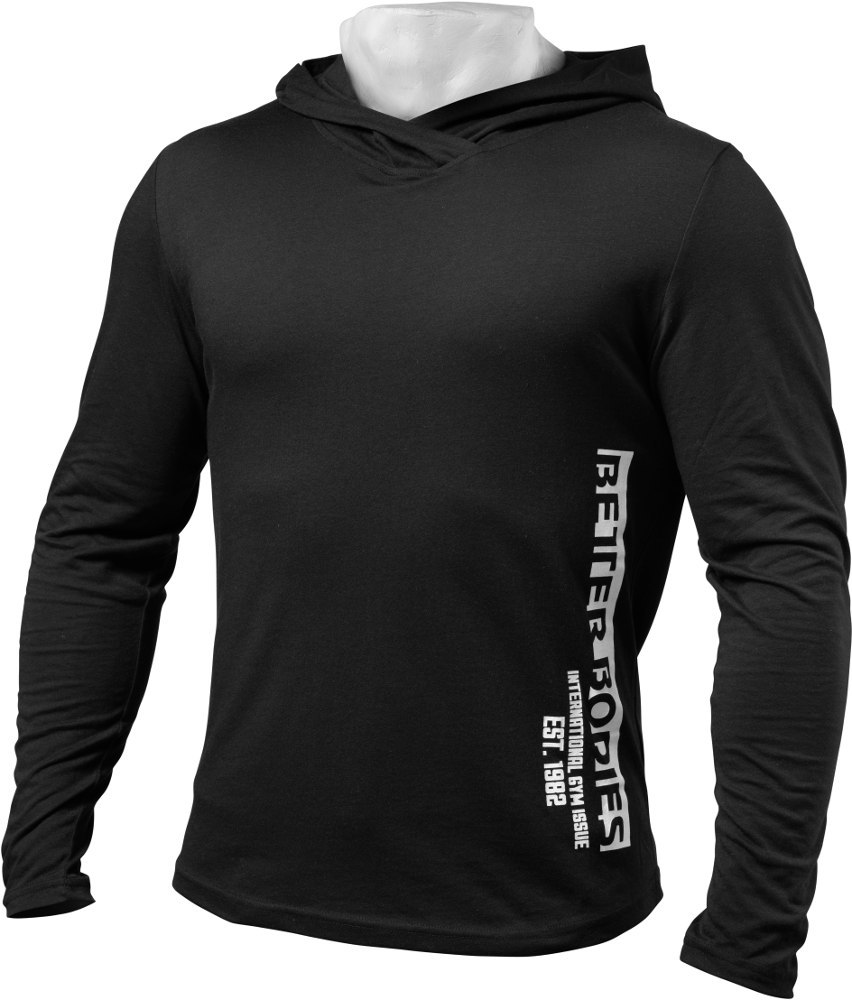 Better Bodies Mens Soft Hoodie - Black Large