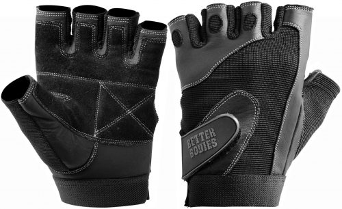 Better Bodies Pro Lifting Gloves - Black Large