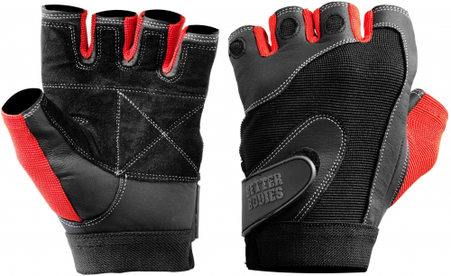 Better Bodies Pro Lifting Gloves - Black/Red Large