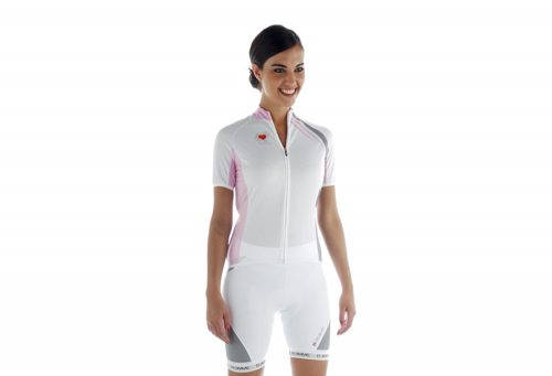 Biemme Strips Cycling Jersey - Women's - white/pink, xsmall