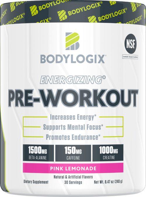 Bodylogix Energizing Pre-Workout - 30 Servings Pink Lemonade