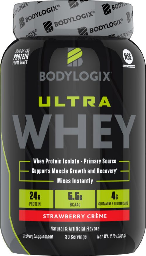 Bodylogix Ultra Whey - 2lbs Strawberry Creme