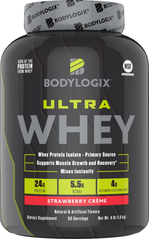 Bodylogix Ultra Whey - 4lbs Strawberry Creme