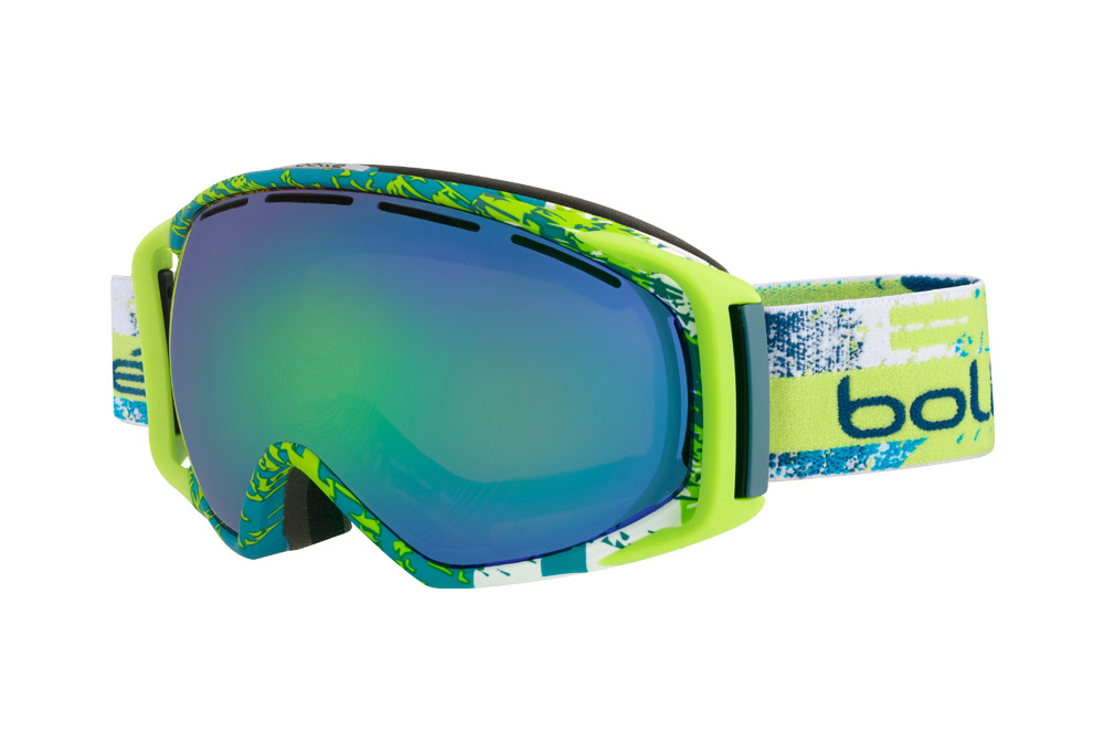 Bolle Gravity Goggles - limeteal green emerald, adjustable