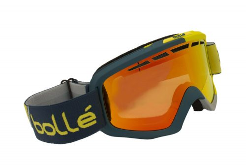 Bolle Nova II Goggles - matte blue & yellow fire orange, adjustable