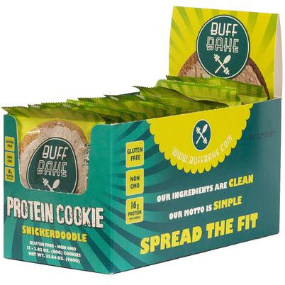 Buff Bake Buff Bake Cookies - 12 Pack Snickerdoodle