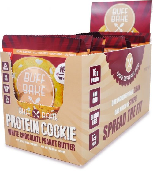 Buff Bake Buff Bake Cookies - 12 Pack White Chocolate Peanut Butter