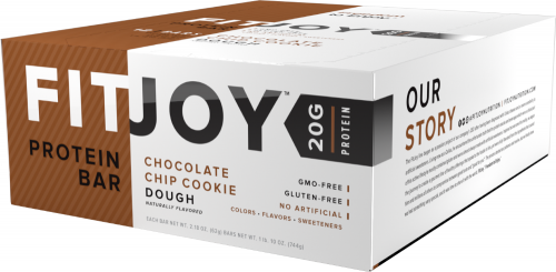 Cellucor FitJoy Bars - Box of 12 Chocolate Chip Cookie Dough