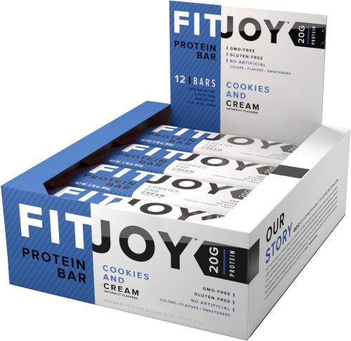 Cellucor FitJoy Bars - Box of 12 Cookies & Cream