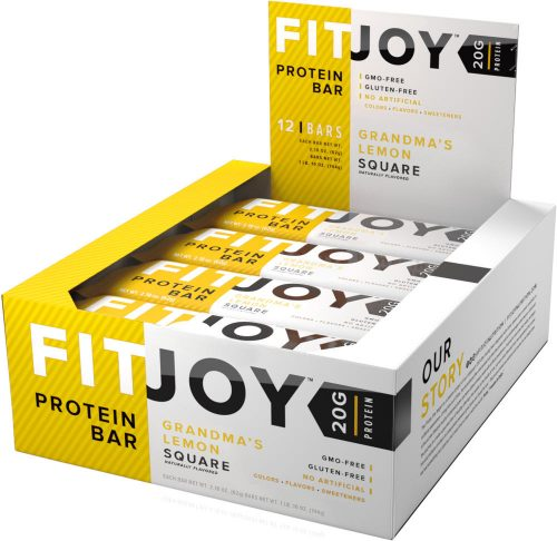 Cellucor FitJoy Bars - Box of 12 Grandma's Lemon Square