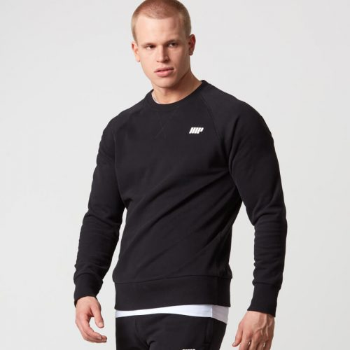 Classic Crew Neck Sweatshirt - Black - XL