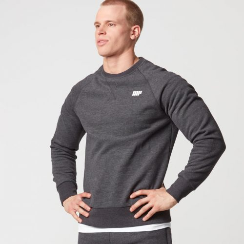 Classic Crew Neck Sweatshirt - Charcoal Marl - XL