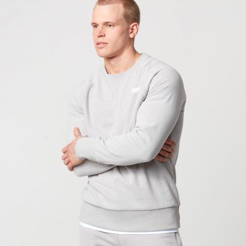 Classic Crew Neck Sweatshirt - Grey Marl - XL