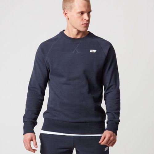 Classic Crew Neck Sweatshirt - Navy - L