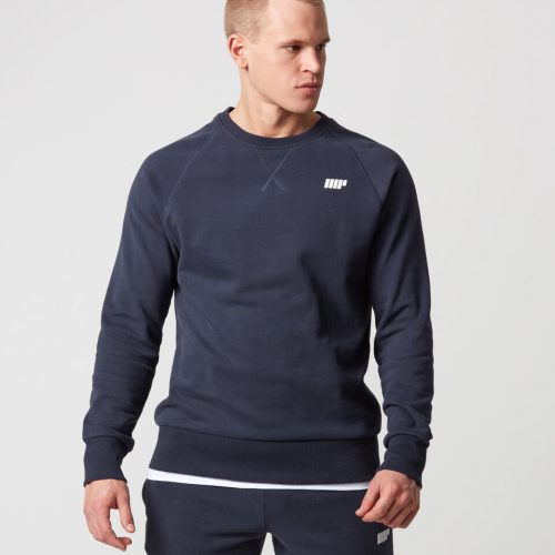Classic Crew Neck Sweatshirt - Navy - XXL