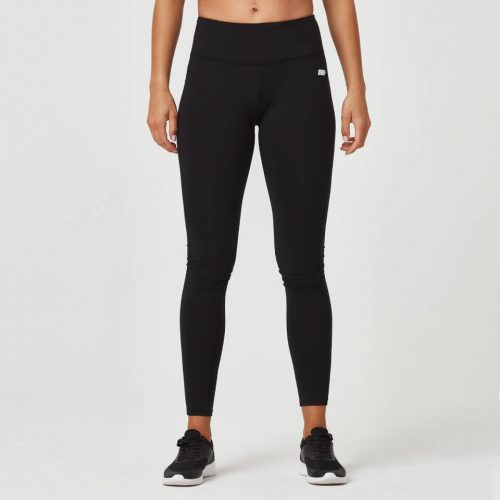 Classic Heartbeat Full Length Leggings - Black - L