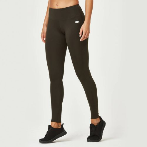 Classic Heartbeat Full Length Leggings - Dark Khaki - XS