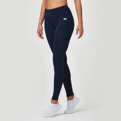 Classic Heartbeat Full Length Leggings - Navy - L