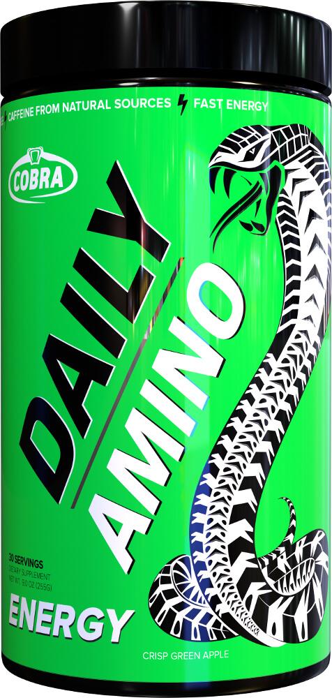 Cobra Labs Daily Amino Energy - 30 Servings Crisp Green Apple