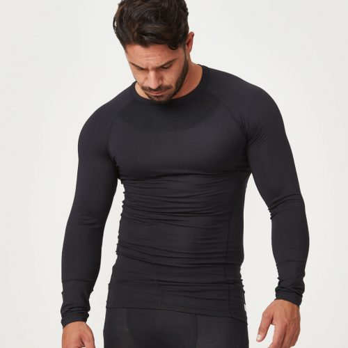 Compression Long Sleeve Top - Black - XXL