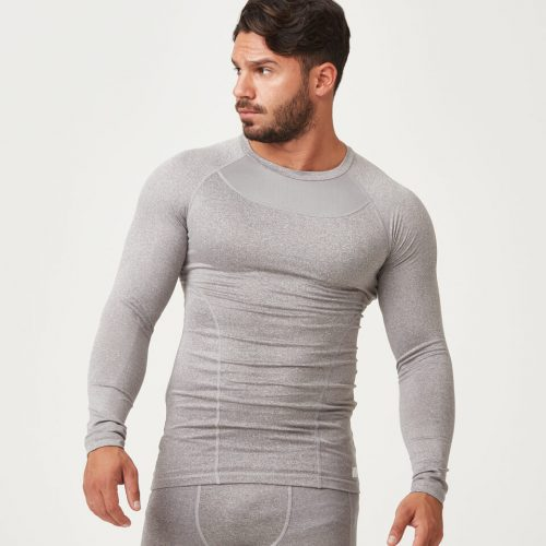Compression Long Sleeve Top - Grey Marl - XXL