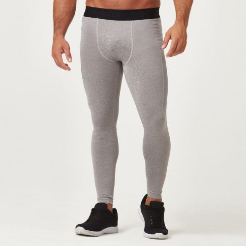 Compression Tights - Grey Marl - M