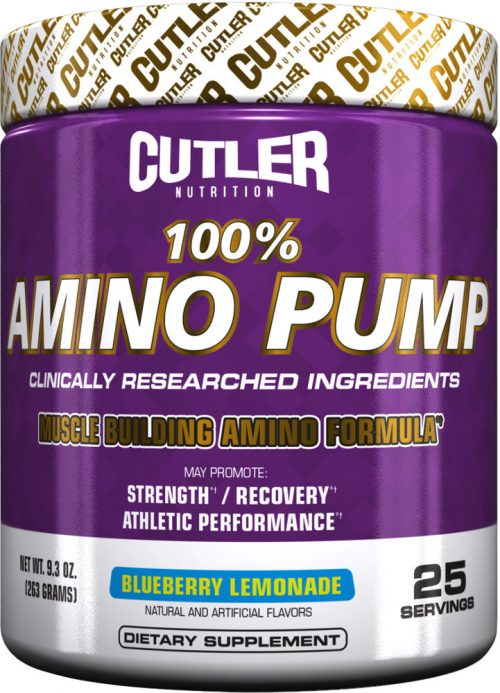 Cutler Nutrition 100% Amino Pump - 25 Servings Blueberry Lemonade