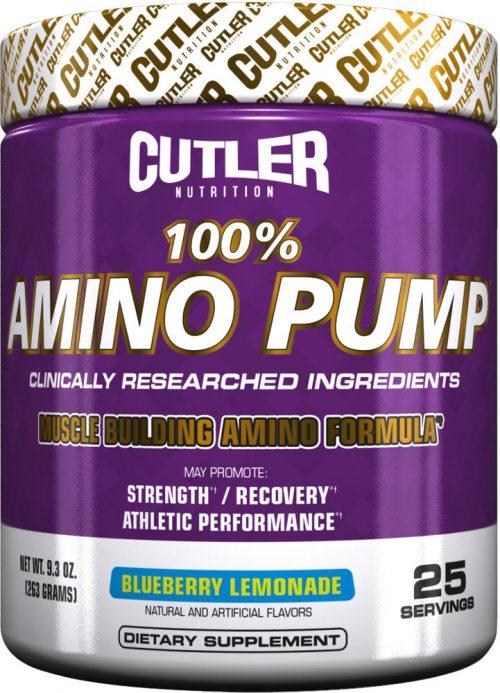 Cutler Nutrition 100% Amino Pump - 25 Servings Blueberry Lemonade