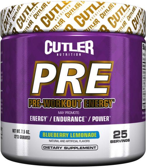 Cutler Nutrition PRE - 25 Servings Blueberry Lemonade