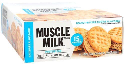 CytoSport Muscle Milk Blue Bar - Box of 12 Peanut Butter Cookie