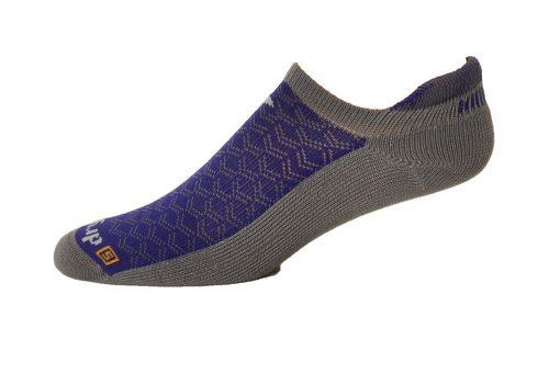 Drymax Running Lite-Mesh No Show Tab Socks - anthracite/purple, medium