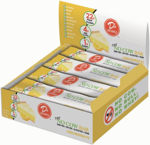 D's Naturals No Cow Bar - Box of 12 Lemon Meringue Pie
