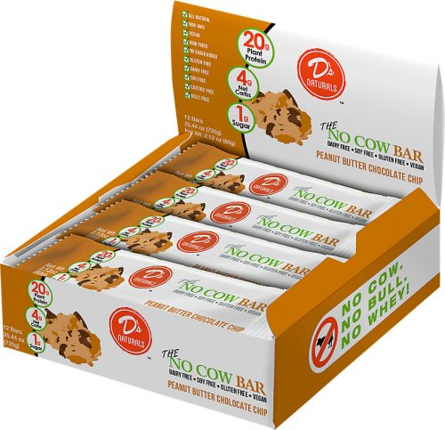 D's Naturals No Cow Bar - Box of 12 Peanut Butter Chocolate Chip