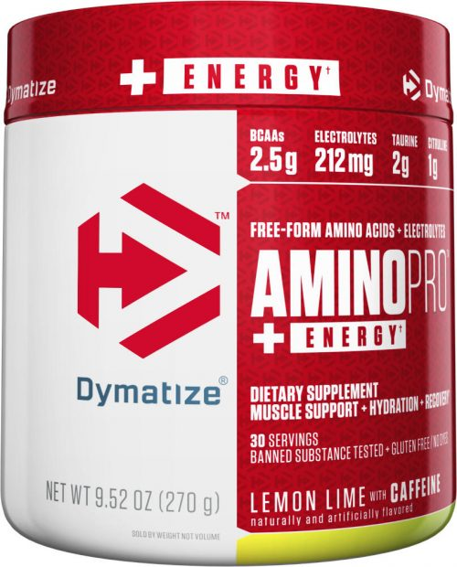Dymatize Amino Pro - 30 Servings (Caffeinated) Lemon Lime