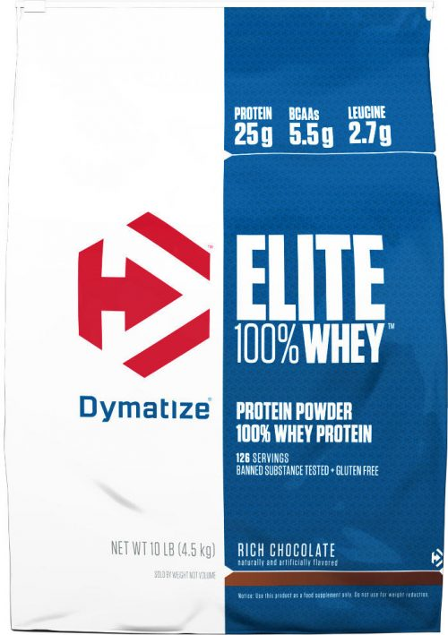 Dymatize Elite 100% Whey - 10lbs Rich Chocolate