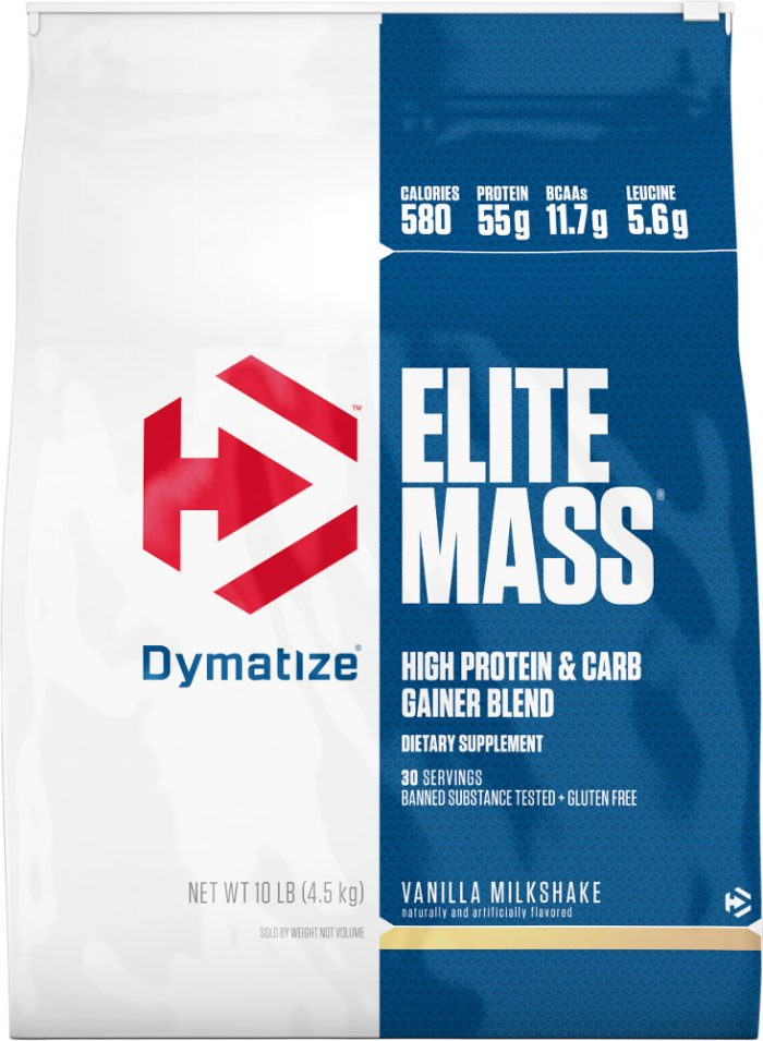 Dymatize Elite Mass - 10lbs Vanilla Milkshake