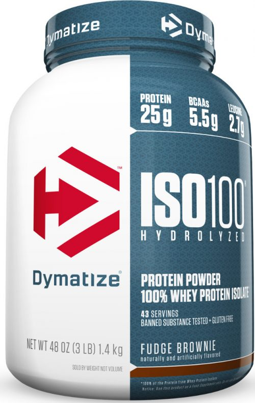 Dymatize ISO100 - 3lbs Fudge Brownie