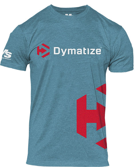 Dymatize Icon Side Logo T-Shirt - Blue Large