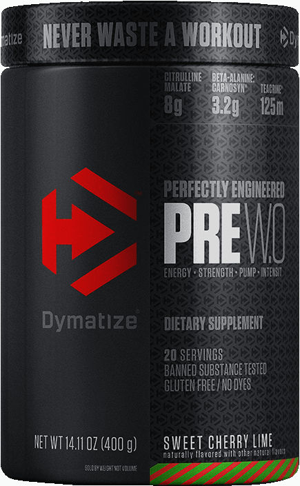 Dymatize PRE WO - 20 Servings Sweet Cherry Lime