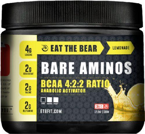 Eat The Bear Bare Aminos - 30 Servings Lemonade