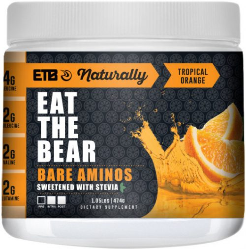Eat The Bear Bare Aminos - 30 Servings Naturally Tropical Orange