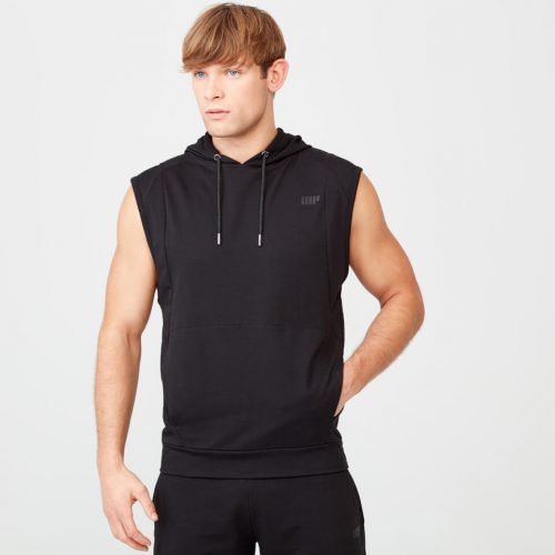 Form Sleeveless Hoodie - Black - L