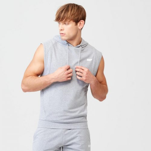Form Sleeveless Hoodie - Grey Marl - L