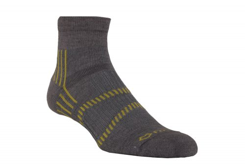 Fox River Lightweight 1/4 Crew Socks - fog/lemon/grey, small