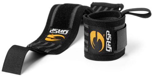 GASP Hardcore Wrist Wraps - One Size Black/Grey