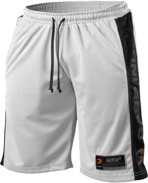 GASP NO1 Mesh Shorts - White/Black Large